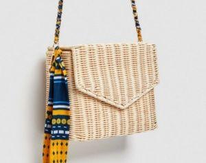NWT zara Raffia crossbody bag